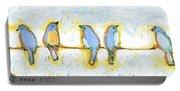 Eight Little Bluebirds Portable Battery Charger