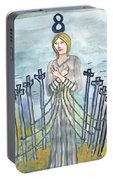 Eight Of Swords Illustrated Portable Battery Charger