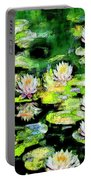 Eight #waterlilies Portable Battery Charger
