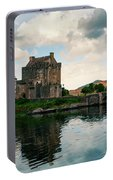 Eilean Donan Castle On A Cloudy Day Portable Battery Charger