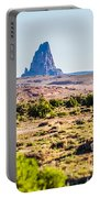 El Capitan Peak Just North Of Kayenta Arizona In Monument Valley Portable Battery Charger