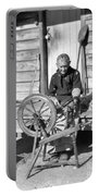 Elderly Woman Spinning Wool, C.1920s Portable Battery Charger