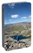 Eldorado Lake Panorama From White Dome - Weminuche Wilderness - Colorado Portable Battery Charger