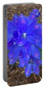 Electric Blue Flower Portable Battery Charger