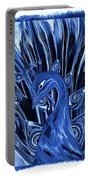 Electric Blues Peacock Portable Battery Charger