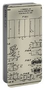 Electric Football Patent 1955 Aged Gray Portable Battery Charger