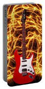 Electric Guitar With Sparks Portable Battery Charger