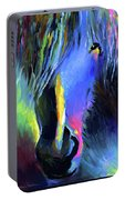 electric Stallion horse painting Portable Battery Charger