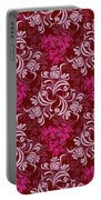 Elegant Red Floral Design Portable Battery Charger