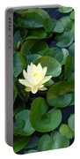 Elegant Water Lily Portable Battery Charger