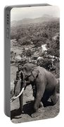 Elephant And Keeper, 1902 Portable Battery Charger