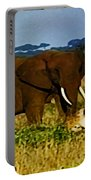 Elephant And The Lions Portable Battery Charger