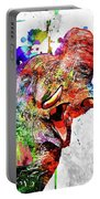 Elephant Colored Grunge Portable Battery Charger