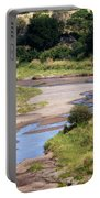 Elephant Crossing In Tarangire Portable Battery Charger