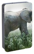 Elephant Eating Onions Portable Battery Charger