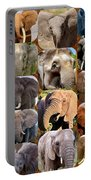 Elephant Faces Portable Battery Charger
