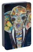 Elephant Mixed Media 2 Portable Battery Charger