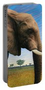 Elephant On Safari Portable Battery Charger