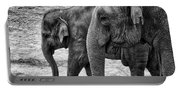 Elephants Bw Portable Battery Charger