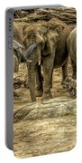 Elephants Social Portable Battery Charger