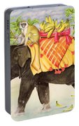 Elephants With Bananas Portable Battery Charger