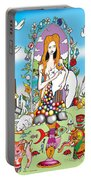 Elephants,cats And Rabbit Dreams Portable Battery Charger