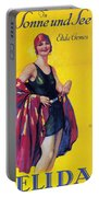 Elida Cremes In Sonne Und See - Woman In Swimsuit - Vintage Advertising Poster Portable Battery Charger