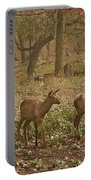 Elk In The Early Morning Portable Battery Charger