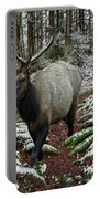 Elk In Winter Portable Battery Charger