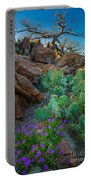 Elk Mountain Flowers Portable Battery Charger by Inge Johnsson
