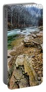 Elk River In The Rain Portable Battery Charger