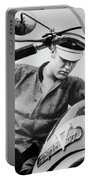 Elvis And His Bike Bw Portable Battery Charger
