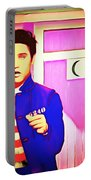 Elvis Has Left The House 20151225 Square Portable Battery Charger