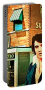 Elvis Presley The King At Sun Studio Memphis Tennessee 20160216 Square Portable Battery Charger