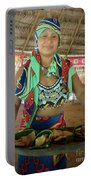 Embera Indian Lady Serving A Meal Portable Battery Charger