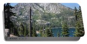 Emerald Bay With Mountain Portable Battery Charger