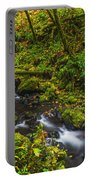 Emerald Falls And Creek In Autumn  Portable Battery Charger