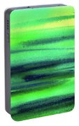Emerald Flow Abstract Painting Portable Battery Charger