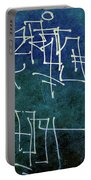 Emerald Green Wall Street Art Portable Battery Charger