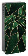 Emerald Night Portable Battery Charger by Elisabeth Fredriksson