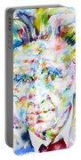 Emil Cioran - Watercolor Portrait Portable Battery Charger