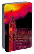 Emily Morgan Hotel With Fiery Sky Portable Battery Charger