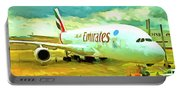 Emirates A380 Airbus Pop Art Portable Battery Charger