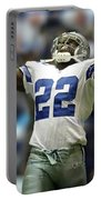 Emmitt Smith, Number 22, Running Back, Dallas Cowboys Portable Battery Charger
