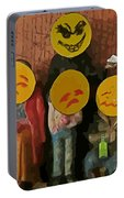 Emoji Family Victims Of Substance Abuse Portable Battery Charger