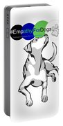 Empathy For Dogs Portable Battery Charger by Kathy Tarochione