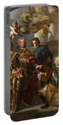 Emperor Charles Vi And Gundacker, Count Althann Portable Battery Charger