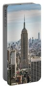Empire State Building And Manhattan Skyline, New York City, Usa Portable Battery Charger