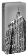 Empire State Building B W Portable Battery Charger