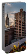 Empire State Building Sunset Rooftop Garden Portable Battery Charger